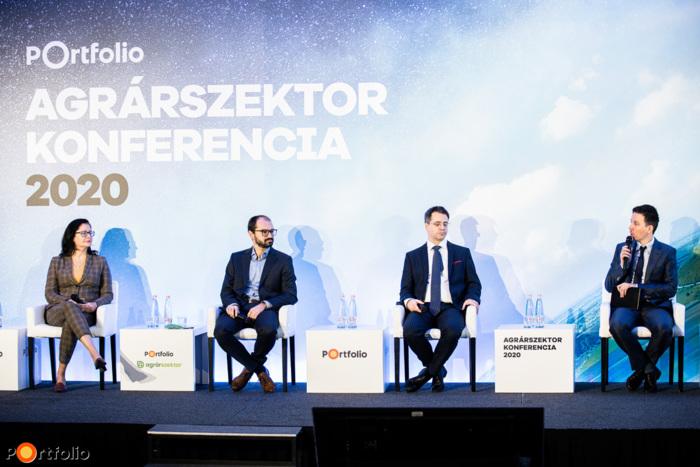 Reform a magyar agráradózásban – Jól vagy rosszul járnak a gazdák 2021-től? A beszélgetés résztvevői: Juhász Anikó (helyettes államtitkár, Agrárminisztérium), Cseszlai István (stratégiai igazgató, Nemzeti Agrárgazdasági Kamara), Besesek Botond (helyettes-államtitkár, Pénzügyminisztérium) és a moderátor, Csiki Gergely (lapigazgató, Portfolio)