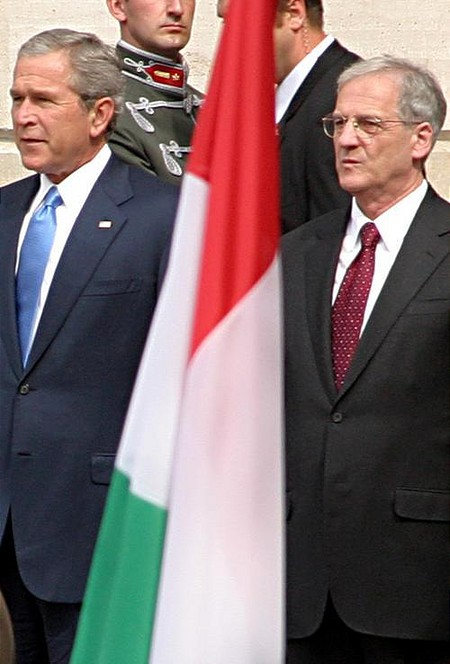 He showed up. With László Sólyom, President of the Republic of Hungary