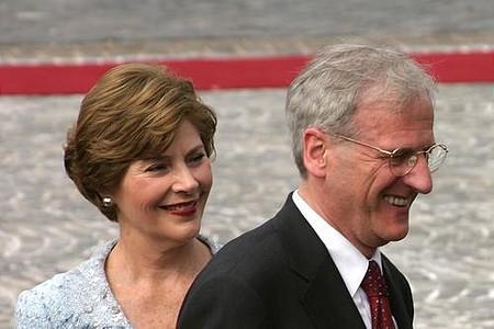 Laura Bush and László Sólyom