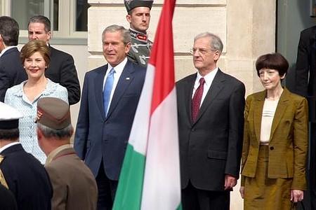 Laura Bush, George W. Bush, László Sólyom, Mrs. Sólyom
