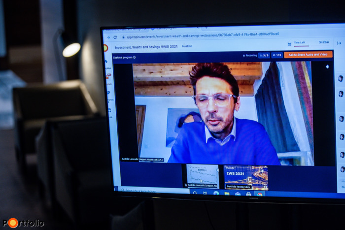 Loncsák András (befektetési igazgató, igazgatósági tag, Aegon Alapkezelő Zrt.) online tartotta meg előadását: Gazdasági és tőzsdei folyamatok a nagyvilágból - Mire érdemes figyelni?
