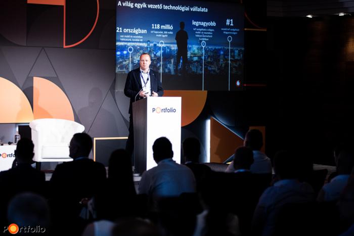 Sipos Szabolcs (nagyvállalati marketing és üzletfejlesztési vezető, Vodafone Magyarország Zrt.): Adatalapú működés és döntéshozatal az építőiparban (Fotó: Stiller Ákos)