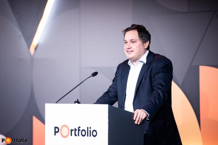 Nagy Márton (Miniszterelnöki gazdaságpolitikai főtanácsadó, Miniszterelnöki Kabinetiroda): Az építőipar és az építőanyagipar helyzete Magyarországon (Fotó: Stiller Ákos)