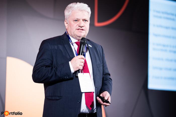 Gyutai Csaba (vezérigazgató, ÉMI Építésügyi Minőségellenőrző Innovációs Nonprofit Kft.): Digitalizáció, hatékonyság és fenntarthatóság az építőiparban (Fotó: Stiller Ákos)