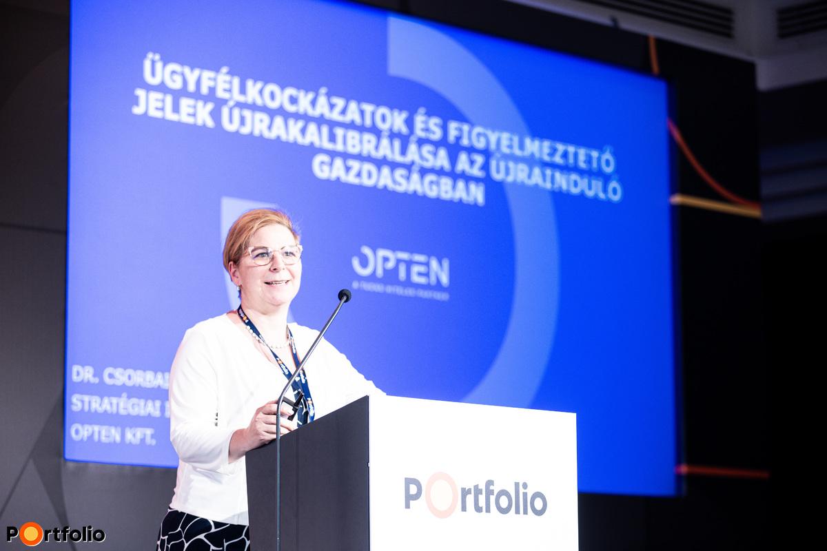 Dr. Csorbai Hajnalka (stratégiai igazgató, Opten Kft.): Ügyfélkockázatok és figyelmeztető jelek újrakalibrálása az újrainduló gazdaságban