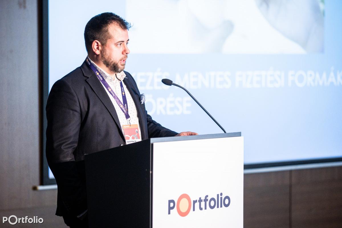Dr. Dávid Péter (elektronikus pénzkibocsátási és pénzforgalmi üzletágvezető, Platex Zrt.): Azonnali fizetés és PSD2 (Fotó: Stiller Ákos)