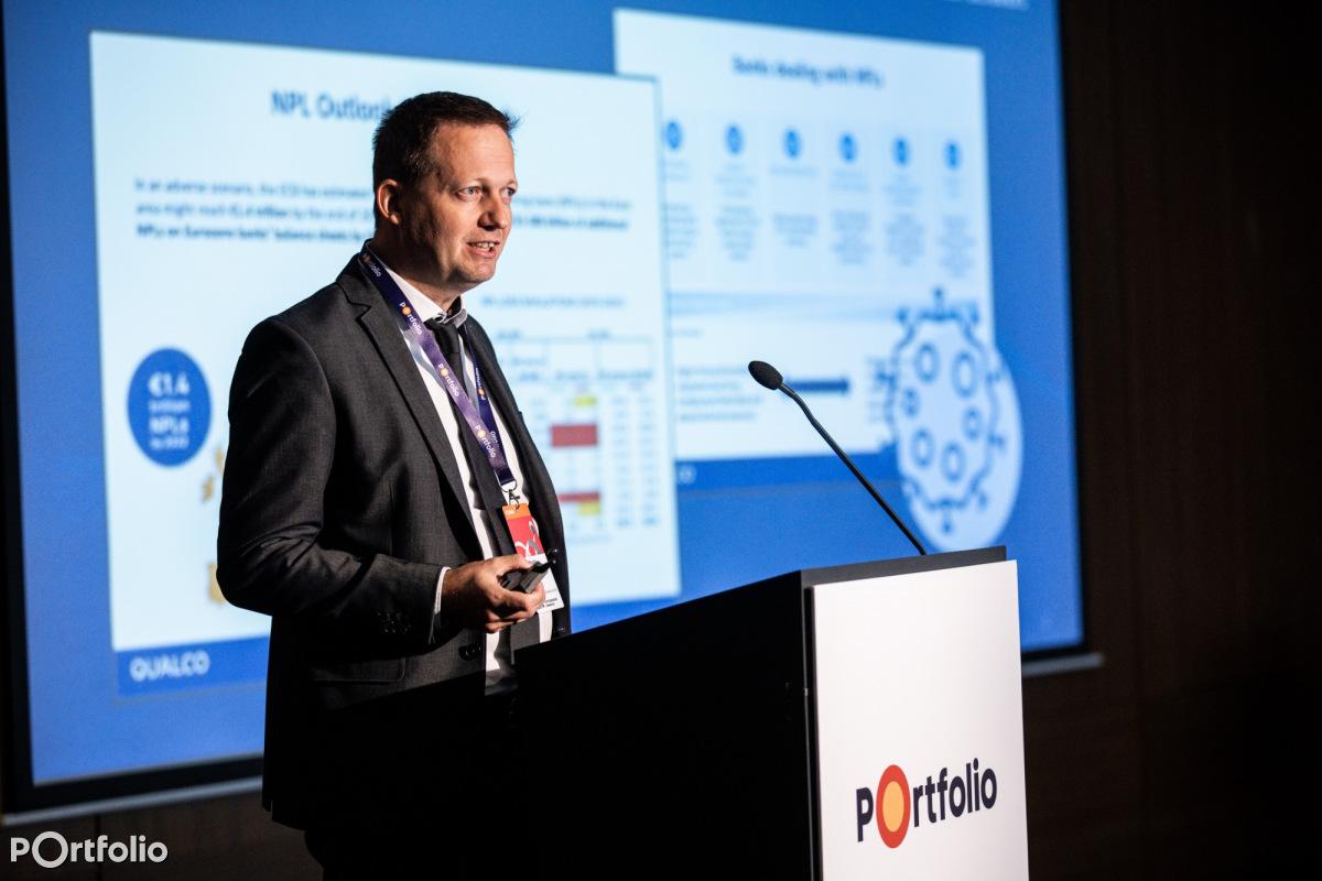 Győrfi Gábor (üzletfejlesztési igazgató, QUALCO): Adatelemzés, modellezés és digitális csatornák használata a modern követeléskezelésben (Fotó: Stiller Ákos)