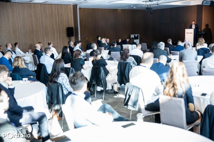 Idén az EO-szal közös Követeléskezelési trendek konferenciánk a Larus Rendezvényközpontban került megrendezésre, október 5-én. (Fotó: Stiller Ákos)