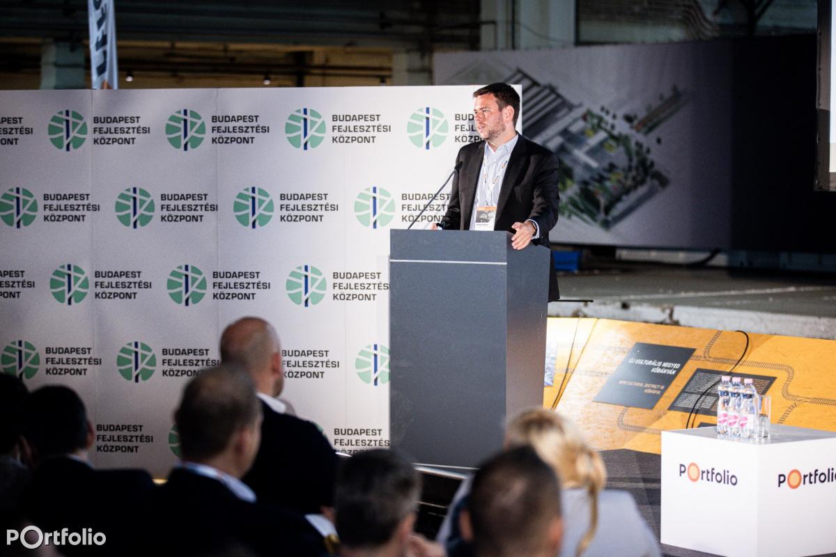 Vitézy Dávid (vezérigazgató, Budapest Fejlesztési Központ): A vasúti alagút projekt (Fotó: Stiller Ákos)