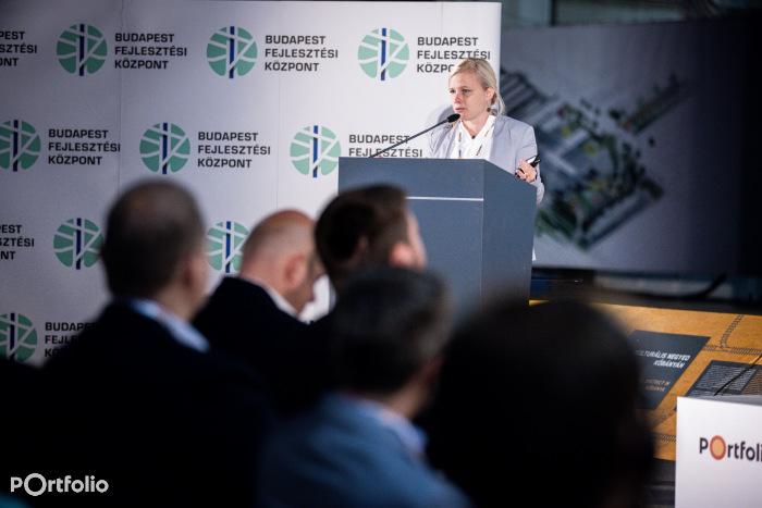 Rab Judit (városépítészeti osztályvezető, Budapest Fejlesztési Központ): A nyugati pályaudvar és környezetének megújítása (Fotó: Stiller Ákos)