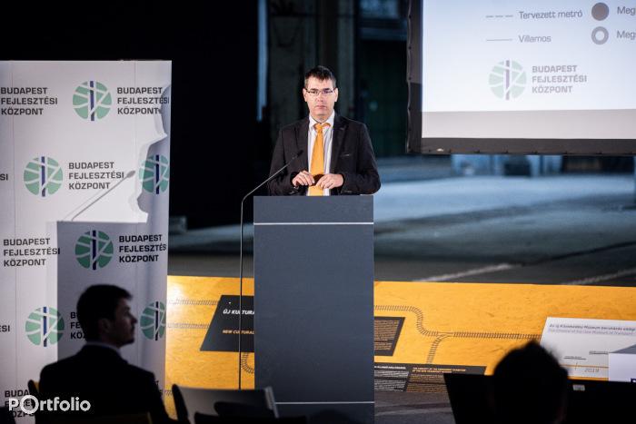 Horn Gergely (vasútfejlesztési projektigazgató, BFK Budapest Fejlesztési Központ): A vasúti alagúthoz kapcsolódó, felszíni vasútfejlesztési projektek (Fotó: Stiller Ákos)