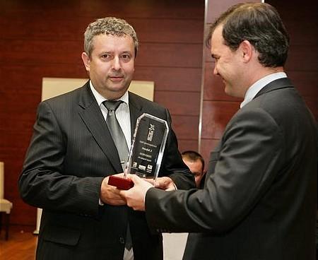 A kelet-magyarországi régió első helyezettje, a Ferro-Press Kft. ügyvezetője, Birgés Tibor