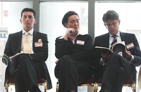 A BROKERNET Holding Zrt. vezetése is figyelemmel kísérte a konferenciát (Kutvölgyi Pál, marketing és kommunikációs alelnök; Csák Zita, kommunikációs osztályvezető; Gecser Ottó, vezérigazgató-helyettes)