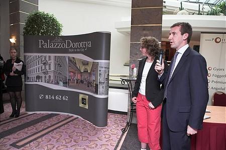 Bonacchi úr az RDM és a Palazzo Dorottya nevében köszöntötte a vendégeket
