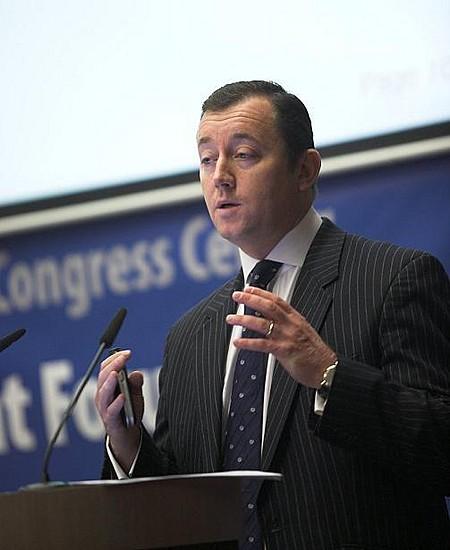 Doug Hardman, a DTZ befektetési igazgatója Közép- és Kelet-Európa kilátásairól tartott előadást.