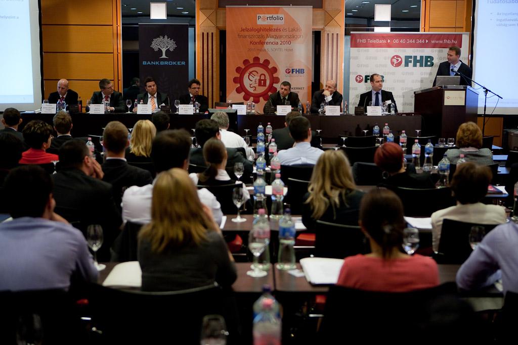 A hitelezési panelben Szentpétery Csaba  (Budapest Bank), Nagy Ferenc, (K&H Bank), Illés Zoltán (OTP Bank), Dr. Balogh Imre (MKB), Biró Péter (BROKERNET Group – BANKBROKER), Harmati László (FHB), Bán Zoltán (Portfolio.hu) és Harsányi Gábor (BellRese