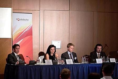 Szabolcs Varga (Gutmann Hungary), Ildikó Katona (MKB Private Banking, MKB Bank), András Kállay (Erste Private Banking), István Karagich (BloChamps Capital)