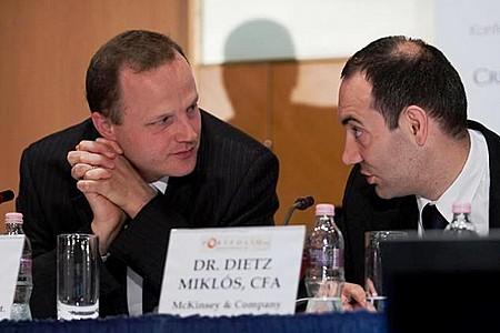 Botond Bilibók (Concorde Alapkezelő) és Dr Miklós Dietz CFA (McKinsey & Company)