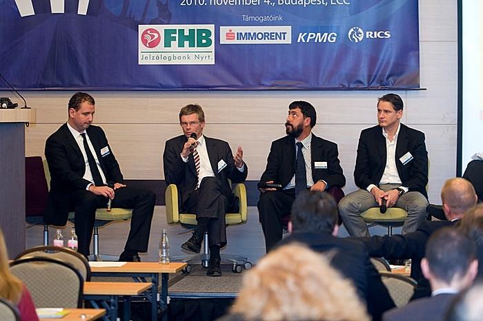 4/C. szekció: Ingatlankezelés, üzemeltetés. Széll Csaba (Europolis), Dr. Hajnal István FRICS (Biggeorge\'s NV), Szijártó Péter, MRICS (B&V Group), Vágó László (Strabag)
