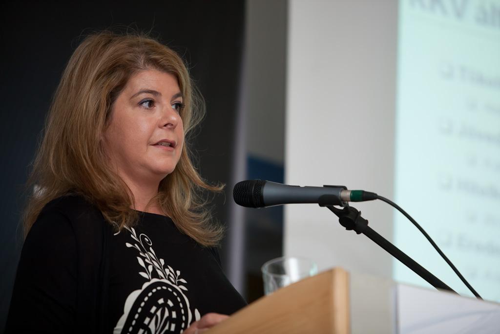 Danka Szilvia, a Citibank Zrt. Nyugat-Magyarország kis- és középvállalati üzletágának régióvezetője az aktuális hitelezési trendekről tartot előadást.