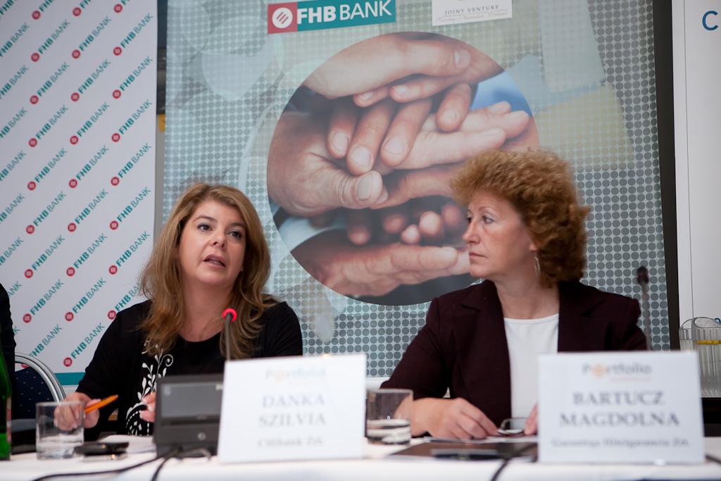 Danka Szilvia (Citibank Zrt.) és Bartucz Magdolna (Garantiqa Hitelgarancia) a KKV finanszírozási konferencián.