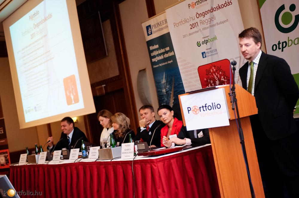 Az OTP Öngondoskodás Index gyakorlati jelentőségéről Turny Ákos (Lakossági Bankszámla és Betét Főosztály igazgató, OTP Bank Nyrt.) beszélt.