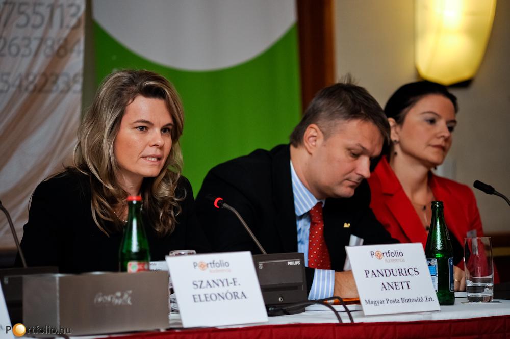 Pandurics Anett (elnök-vezérigazgató, Magyar Posta Biztosító Zrt.), Kovács Zsolt (elnök-vezérigazgató, ING Biztosító Zrt.) és Katona Ildikó (ügyvezető igazgató, MKB Private Banking)
