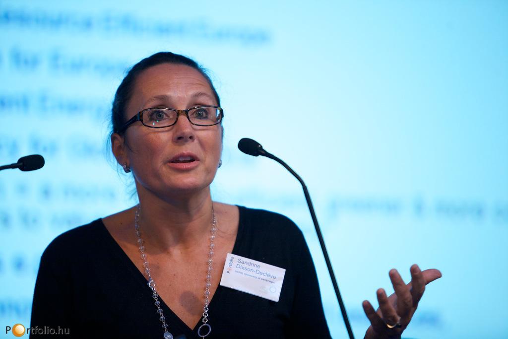Sandrine Dixson-Decléve (igazgató, University of Cambridge Programme for Sustainability Leadersh) (Fotó: Millok Tamás)