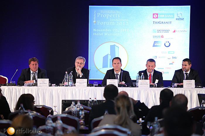 Irodapiaci kerekasztal a Portfolio.hu Property Investment Forum 2012 konferencián.