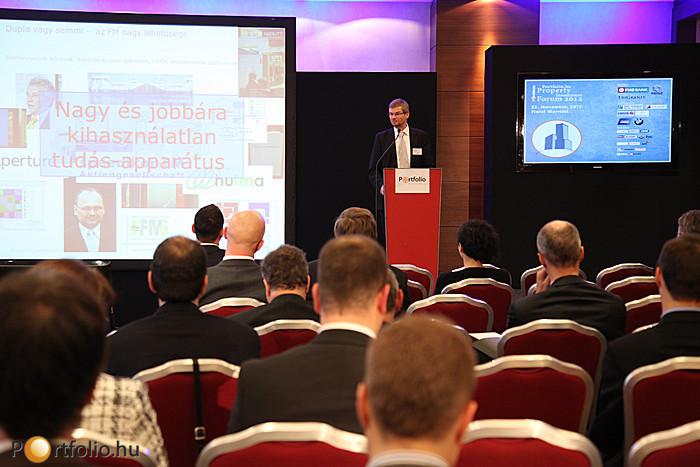 Dupla vagy semmi - Az FM nagy lehetősége. Az előadó Dr. Hajnal István FRICS (vezérigazgató, Biggeorge's NV).