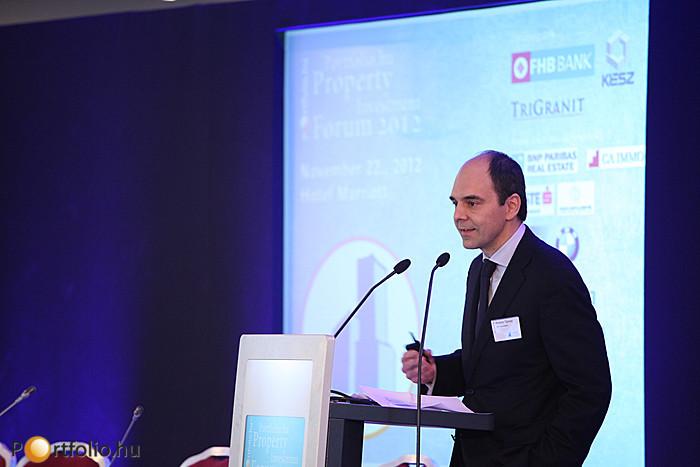 Polster Tamás MRICS (Head of Consulting - Cont. Europe, Middle E., Africa London, DTZ) Budapest esélyeiről és az ingatlanpaic sikerességének lehetőségeiről beszélt.