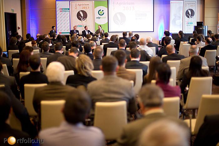 A Portfolio.hu Agrárium 2013 Konferenciáján mintegy 100 cég képviselője jelent meg.