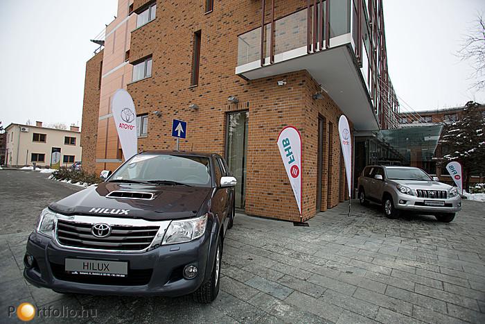 A Portfolio.hu Agrárium 2013 konferencián a vendégek a támogató által kiállított autókat is megtekinthették.