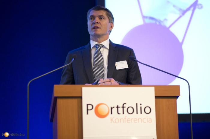 Budafoki Róbert, a T-Systems Magyarország vezérigazgatója az értékteremtő ICT szerepéről beszélt a vállalatok versenyképességében. (Fotó: Todoroff Lázár)