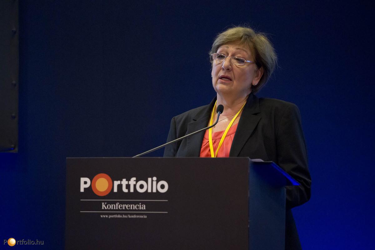 Németh Lászlóné (államtitkár, Miniszterelnökség) a nemzeti pénzügyi szolgáltatások gazdaságélénkítő hatásairól tartott előadást.