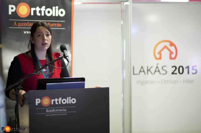 Petőczné Wusching Erika, (FHB Bank): Lakáshitel 2015-ben – aktualitások, lehetőségek, támogatások (Fotó: Todoroff Lázár)