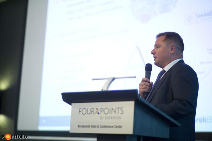 Megtakarítási lehetőségek: Létezik-e biztonságos befektetés egyáltalán? Farkas Róbert (igazgató, Takarékbank). (Fotó: Todoroff Lázár)