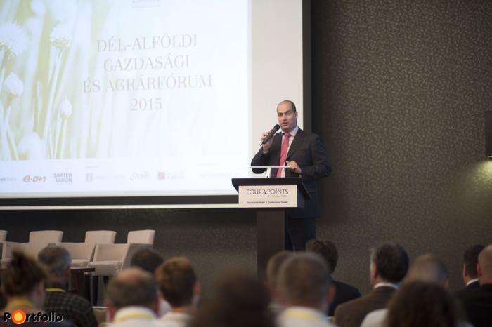 A rendezvényt Bán Zoltan, a Net Média Zrt. vezérigazgatója nyitotta meg. (Fotó: Todoroff Lázár)