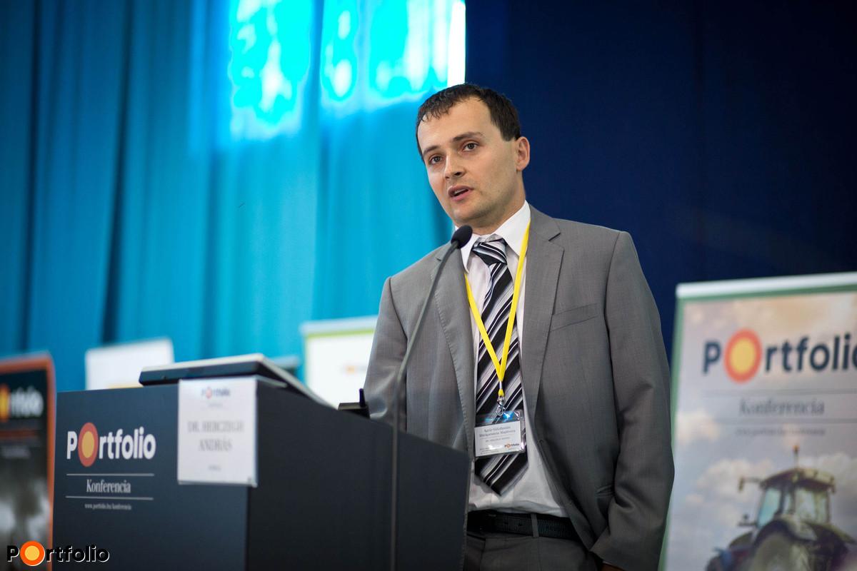 Hogyan segíti a kezességvállalás az agrárfinanszírozást? dr. Herczegh András (ügyvezető igazgató, Agrár-Vállalkozási Hitelgarancia Alapítvány).