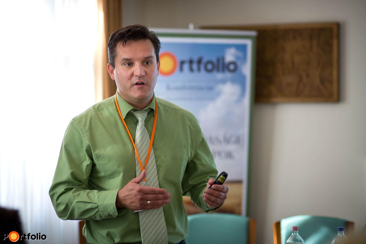 Merre tovább tejágazat – Problémák és megoldások a hazai tejtermelésben Fórián Zoltán (vezető agrárszakértő, Takarékbank Agrár Központ). (Fotó: Hurta Hajnalka)