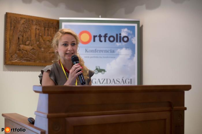 A rendezvényt Major Katalin, az agrárszektor.hu lapigazgatója nyitotta meg. (Fotó: Hurta Hajnalka)