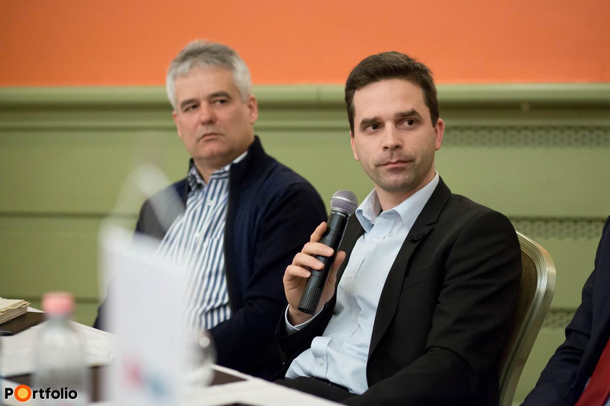 Simon Bence, projektmenedzser, tulajdonos, Építő Simon Kft. és Bakó István, építőcenter vezető, MERKBAU Kft.