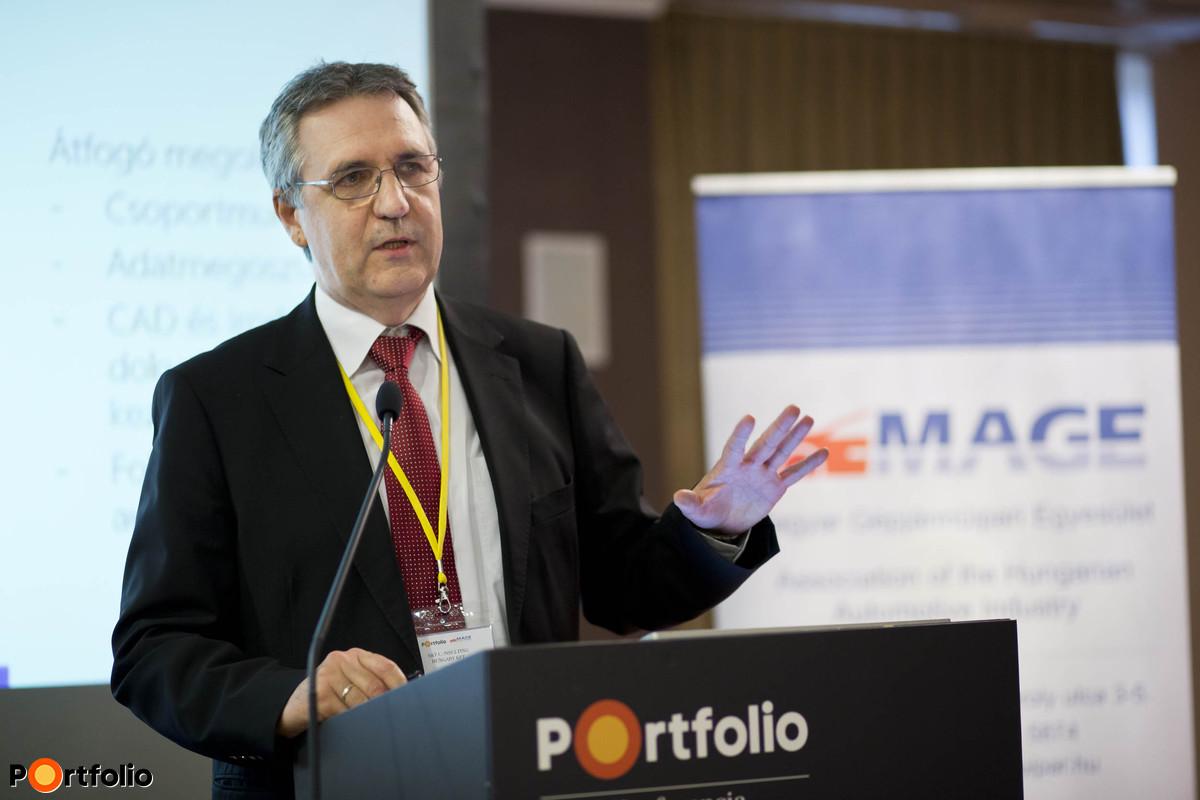 Átütő új technológiák a járműgyártásban: Nyírő Ferenc (PLM/CAD/CAM üzletág vezető, S&T Consulting Hungary Kft.).