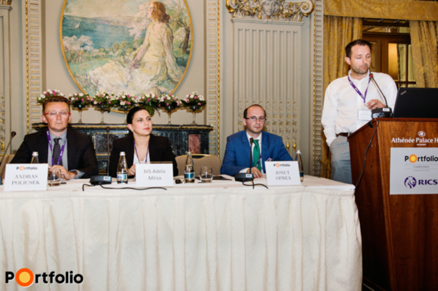 Opportunities in regional Romanian cities. Participants: Andras Policsek (Business Development Manager, Ravensdale Investments), Adela Mîrza (Specialist Marketing, TETAROM), Jonathan Diamantino (CEO, Zacaria Group), the moderator, Ionut Oprea (Brand Manager, Transilvania Business) and dr. Attila Puskas (Contracting Director, KÉSZ Romania).
