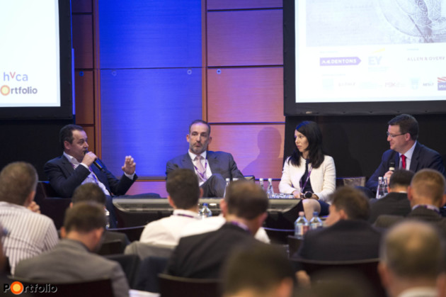 Trends in PE deals – differences between CEE and West European markets. Participants: Marius Ghenea (Investment Director, 3TS Capital Partners), Balázs Tahy (Vice-President, The Riverside Company), Raluca Nita (Managing Director, Private Equity Partners) and the moderator, Hugh Owen (Partner, Allen & Overy).