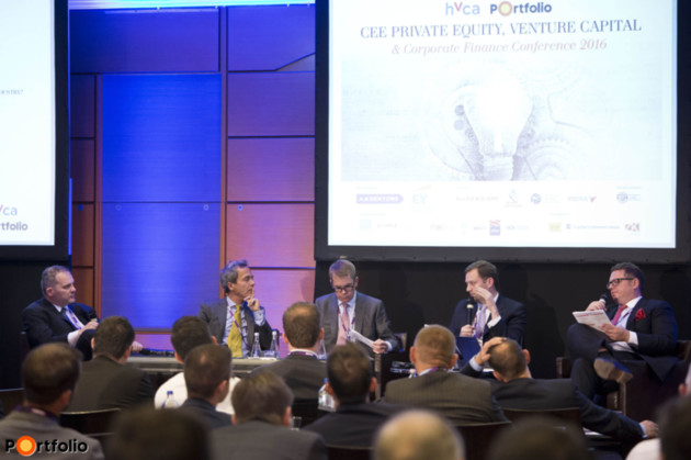 Panel discussion on competitive landscape and market trends in the mid-market PE deals in CEE. Participants: Tamás Tüske (Country Director, Enterprise Investors), Tamás Szalai (Investment Director, CEE Equity Partners), Robert Chmelar (Investment Partner, Rockaway Capital), Béla Lendvai-Lintner (Partner, ARX Equity Partners) and the moderator, Edward L. Keller (Partner, Dentons).