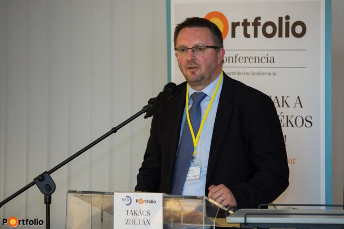 Takács Zoltán (vezérigazgató-helyettes, FHB Bank): Előadás a gyakorlati tapasztalatokról (Fotó: Todoroff Lázár)