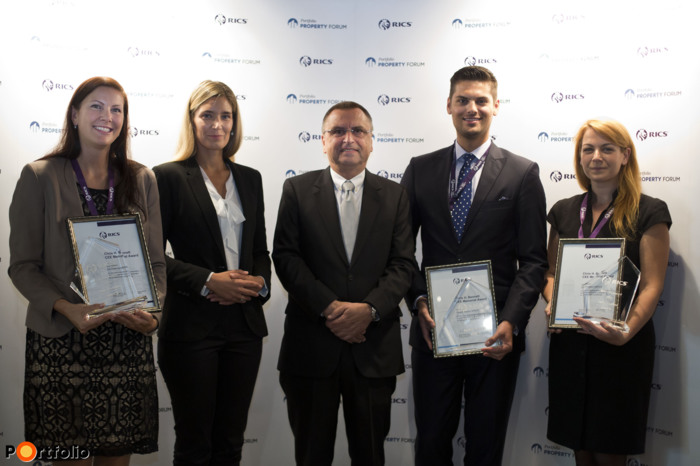 Winners of Chris Bennett Memorial Prize with Anna Orcsik and John Verpeleti FRICS
