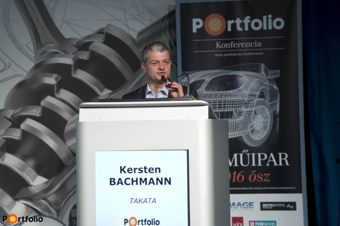 Kersten Bachmann (Director, EMEA Operations Airbag, Takata Safety Systems Hungary Kft.): Automatization solutions in a modern industrial environment