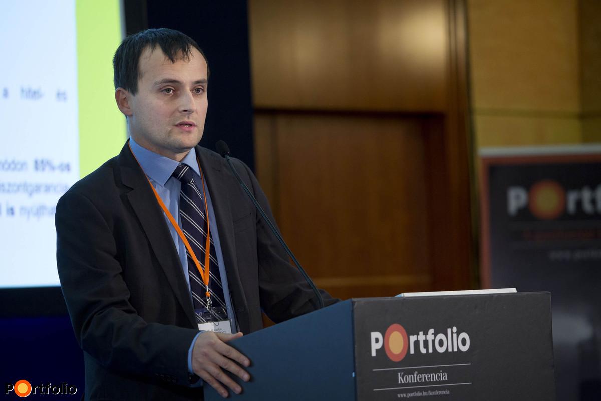 dr. András Herczegh (Managing Director, Agrár-Vállalkozási Hitelgarancia Alapítvány): How does third party guarantee help finance agriculture?